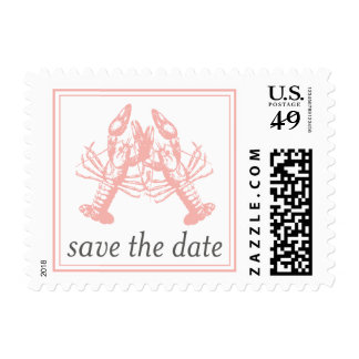 Lobster Love Save the Date Stamp