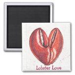 Lobster Love Square Magnet