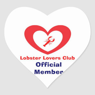 Lobster Lovers Club - Official Member Heart Stickers