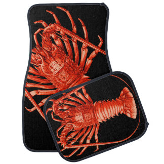 Lobster Lovers Vintage Style Drawing Car Mats