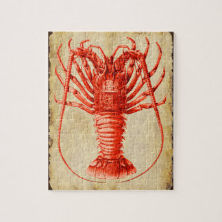 Lobster Lovers Vintage Style Drawing Jigsaw Puzzle