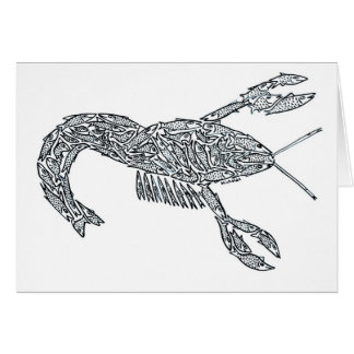LOBSTER made of Fish Card