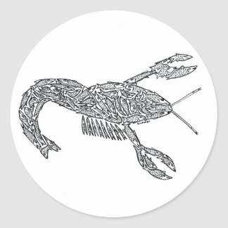 LOBSTER made of Fish Classic Round Sticker
