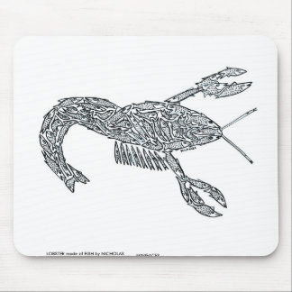 LOBSTER made of Fish Mouse Pad