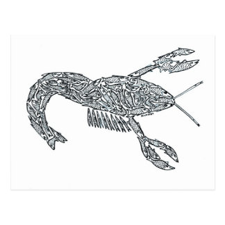 LOBSTER made of Fish Postcard