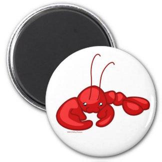 Lobster 2 Inch Round Magnet
