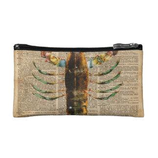 Lobster Mediterranean Sealife Vintage Artwork Cosmetic Bag