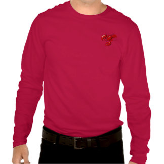 Lobster Mens Long Sleeve Red T-shirt Template