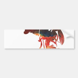 Lobster Mixed Media Collage Car Bumper Sticker