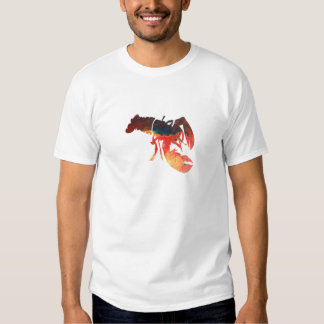 Lobster Mixed Media Collage Shirts