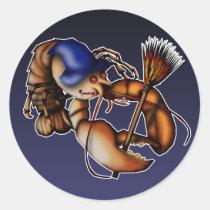 Lobster Of Doom, sticker Round Sticker