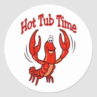 Lobster or Crawfish Hot Tub Time Classic Round Sticker