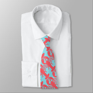 Lobster Pattern Neck Tie
