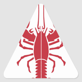 Lobster.pdf Triangle Sticker