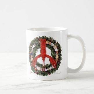 Lobster Peace Wreath Mug