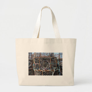 Lobster pot in french Brittany Large Tote Bag