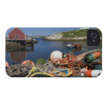 Lobster pots, buoys, and ropes on the dock at iPhone 4 case