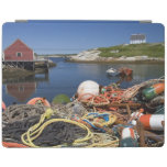 Lobster pots, buoys, and ropes on the dock at iPad cover
