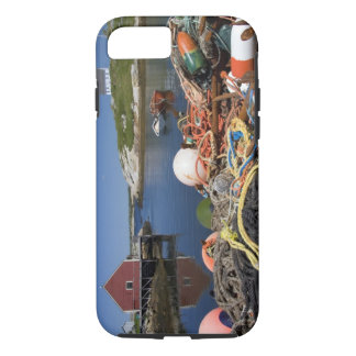 Lobster pots, buoys, and ropes on the dock at iPhone 8/7 case