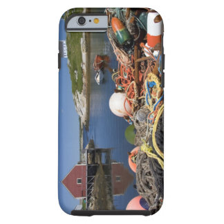 Lobster pots, buoys, and ropes on the dock at tough iPhone 6 case