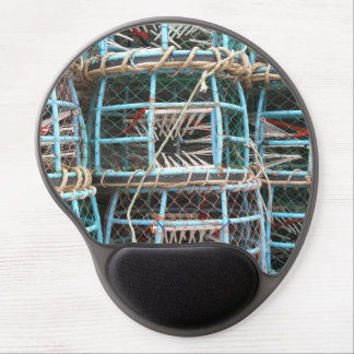 Lobster pots stacked on the harbor gel mouse pad