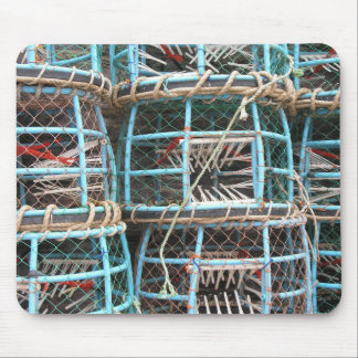 Lobster pots stacked on the harbor mouse pad
