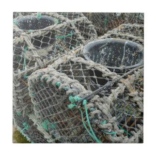 Lobster pots ceramic tile