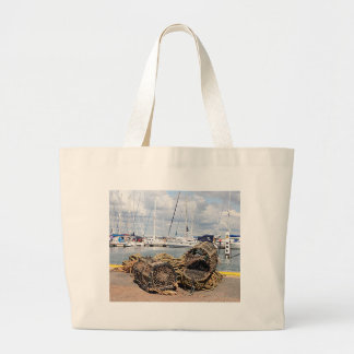Lobster pots, Yarmouth, England Large Tote Bag