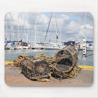 Lobster pots, Yarmouth, England Mouse Pad
