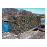 Lobster Pots, York Harbor, Maine Greeting Cards
