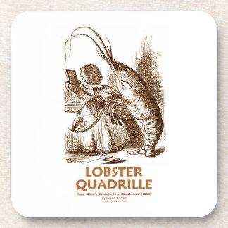 Lobster Quadrille (Brush Mirror Wonderland Humor) Beverage Coasters