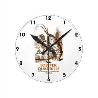 Lobster Quadrille (Brush Mirror Wonderland Humor) Round Clock