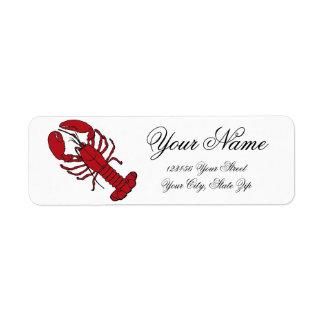 Lobster Return Address Label