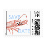 Lobster Save the Date Postage