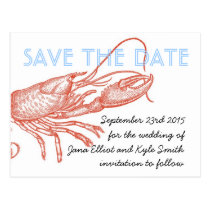 Lobster Save the Date Postcard