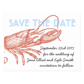 Lobster Save the Date Post Cards