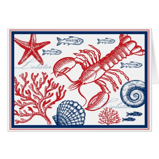 Lobster & Sea Life Card
