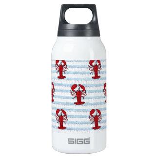 lobster seersucker insulated water bottle