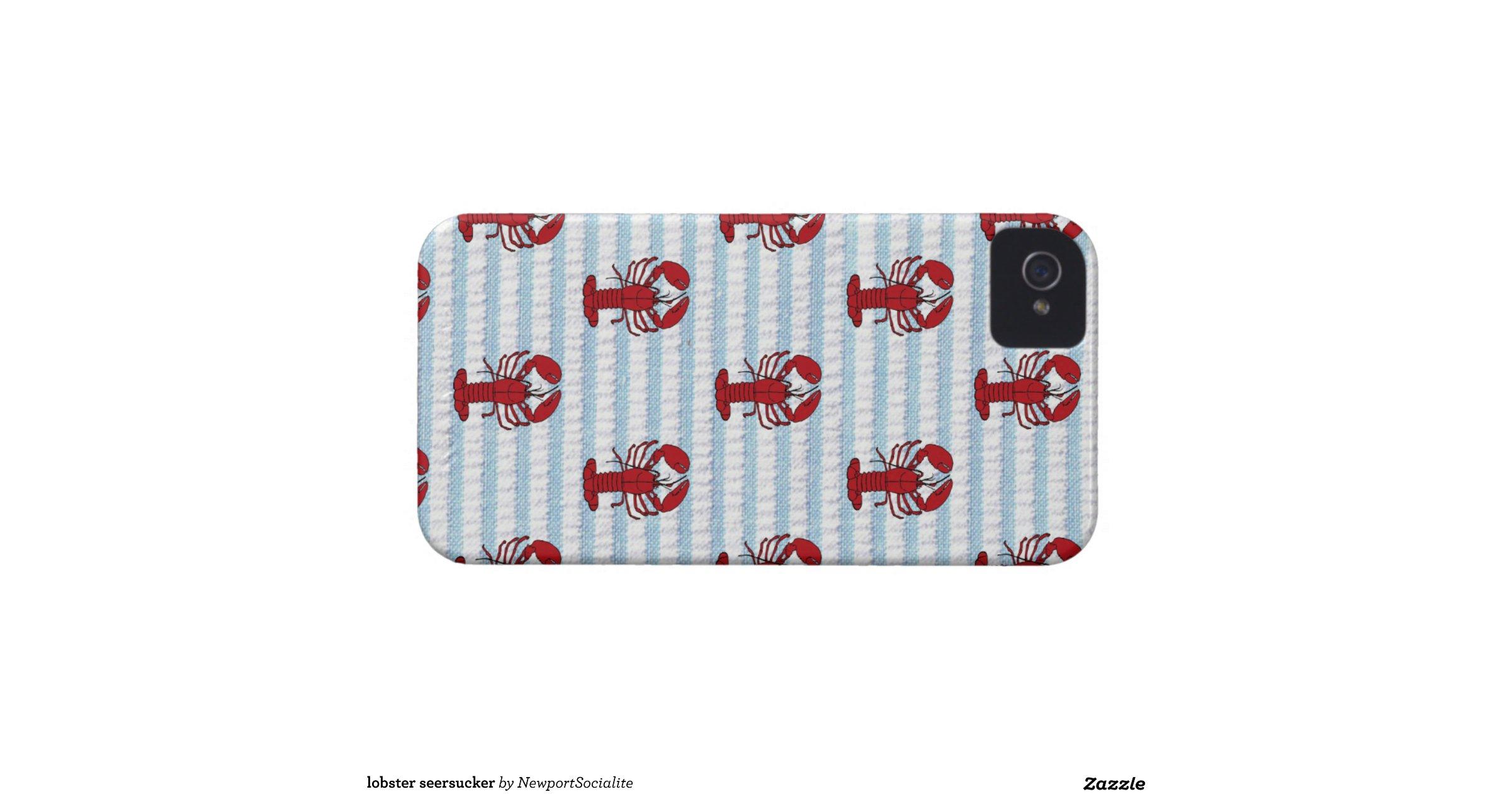 lobster seersucker iPhone 4 Case-Mate cases : Zazzle