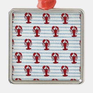 lobster seersucker christmas ornaments