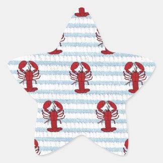 lobster seersucker star sticker