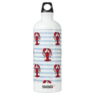 lobster seersucker water bottle