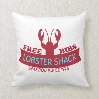 Lobster Shack Fresh Seafood Logo Throw Pillow
