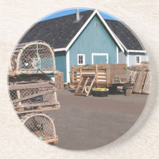 Lobster Shack Series---Fishing Shacks and Traps Drink Coaster