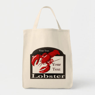 Lobster Sign Design Template  Grocery Tote Bag
