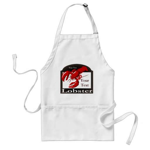 Lobster Sign Template Apron