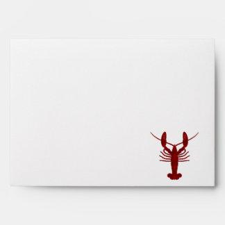 Lobster SIlhouette Envelope