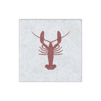 Lobster Silhouette Stone Magnet
