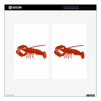 Lobster Kindle Fire Decal