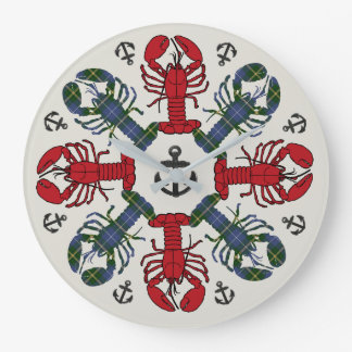 Lobster Snowflake Anchor N.S. Christmas clock